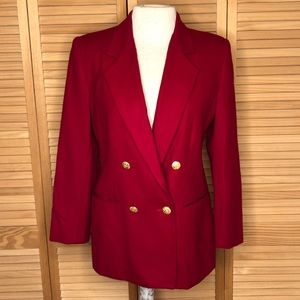 Red Casablanca Petites 4 Wool Blazer double breast